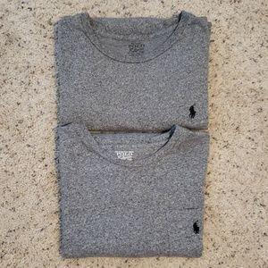 2 Mens Ralph Lauren longsleeve tshirts, size L